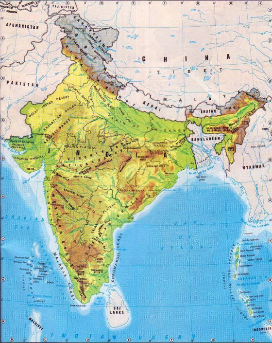 India Map Physical